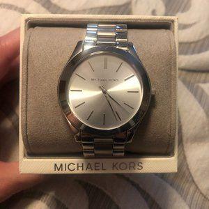 Ladies Michael Kors Slim Runway Silver-Tone Watch